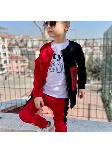 Quzucuk Kids Erkek Çocuk Ceketli Kırmızı Spor Takım Kırmızı